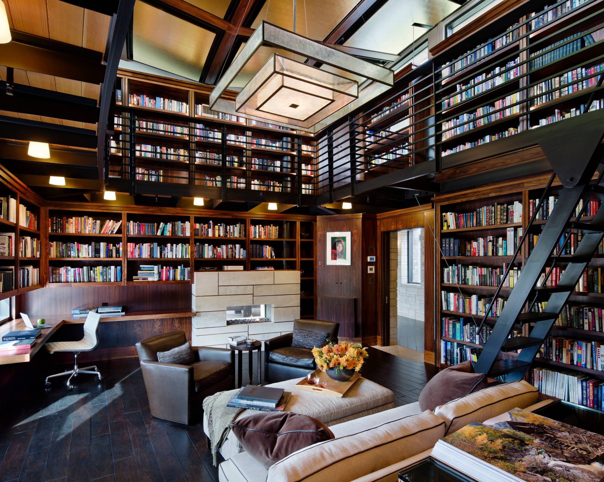 library-at -home-cozy-bookworm-office