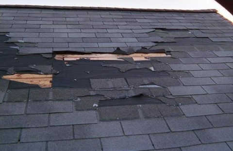 "damaged roof - ""Clean Your Roof!"""