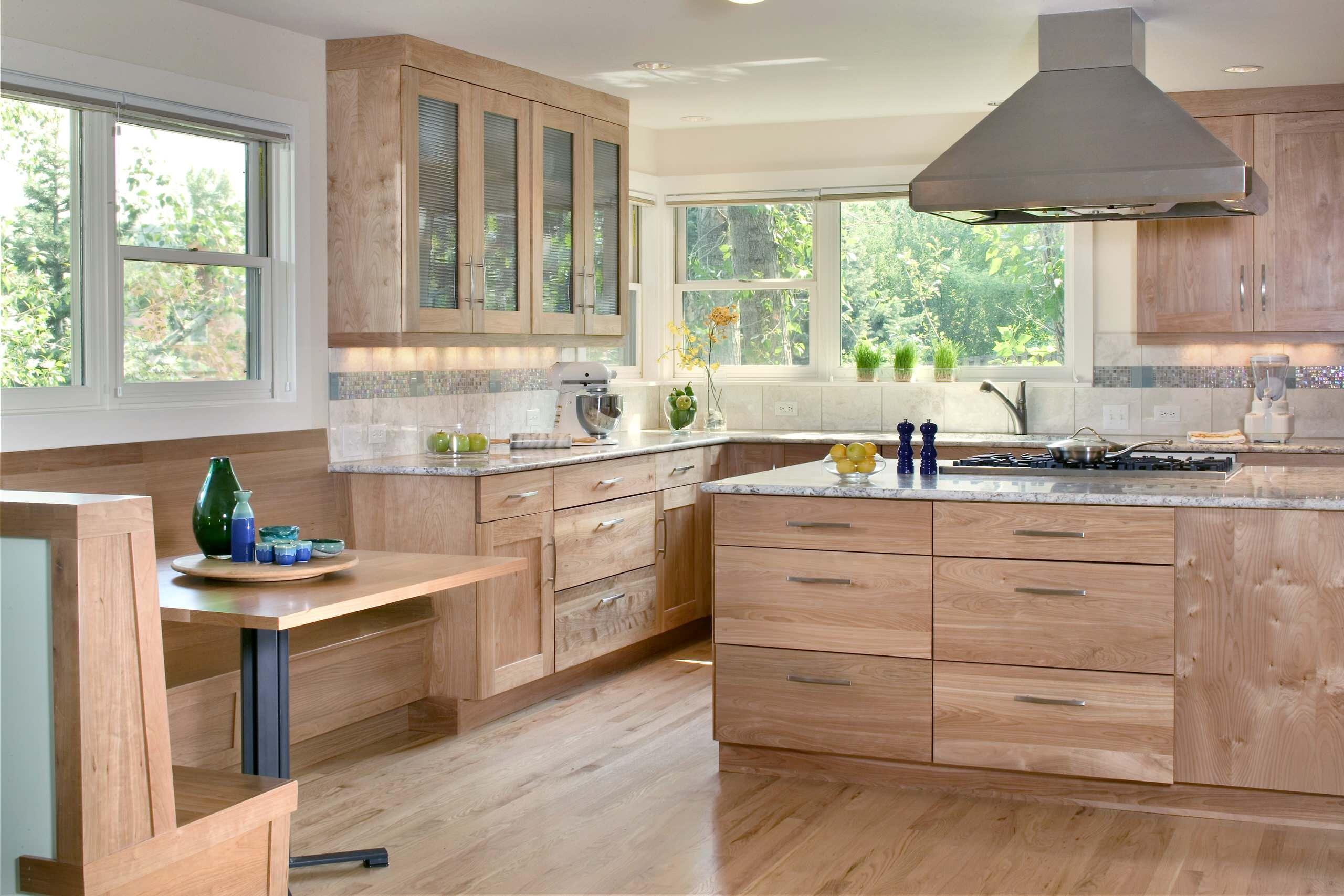 all-wood-kitchen-cabinets-birch