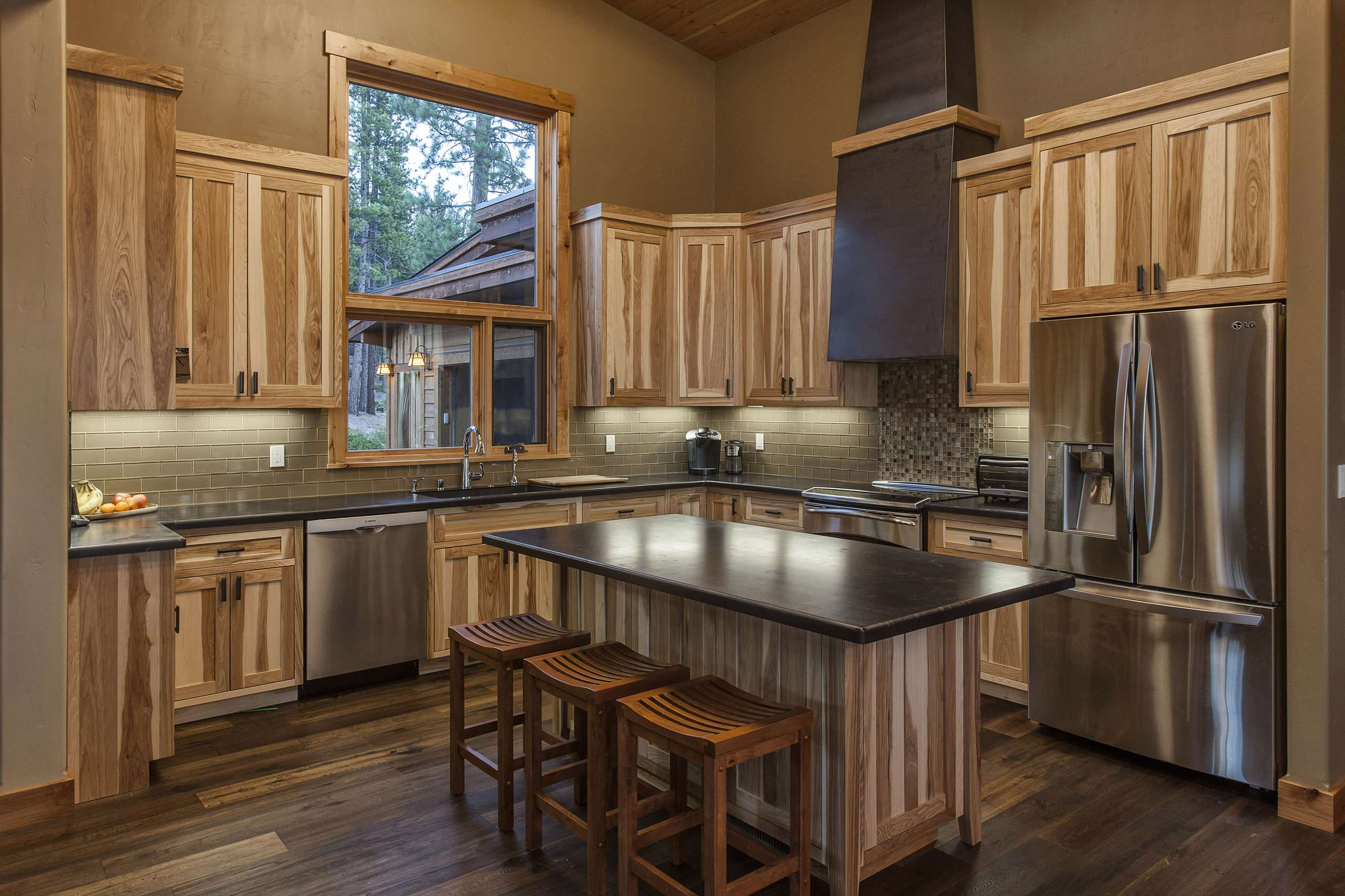 all-wood-kitchen-cabinets-hickory