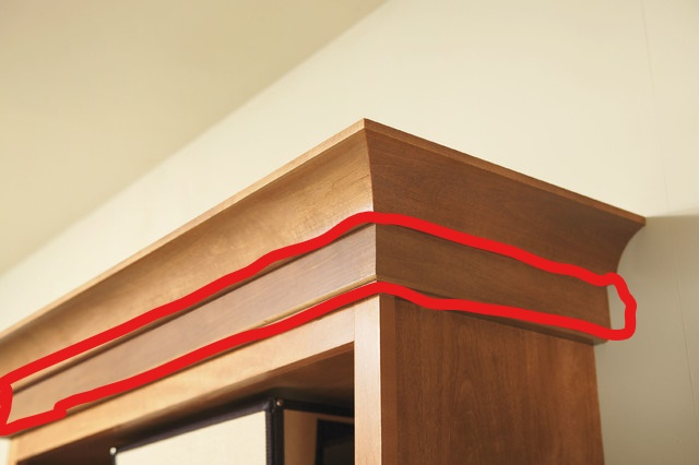 adding crown molding to existing cabinets