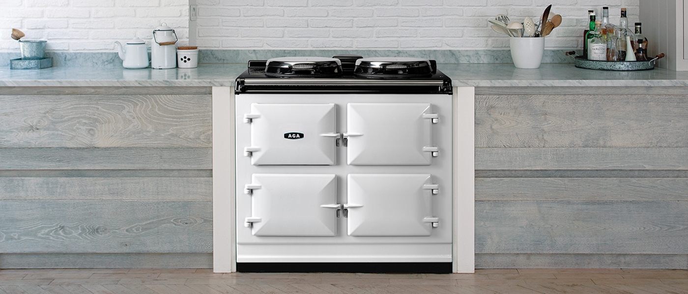 AGA dual control stove and slow cooker