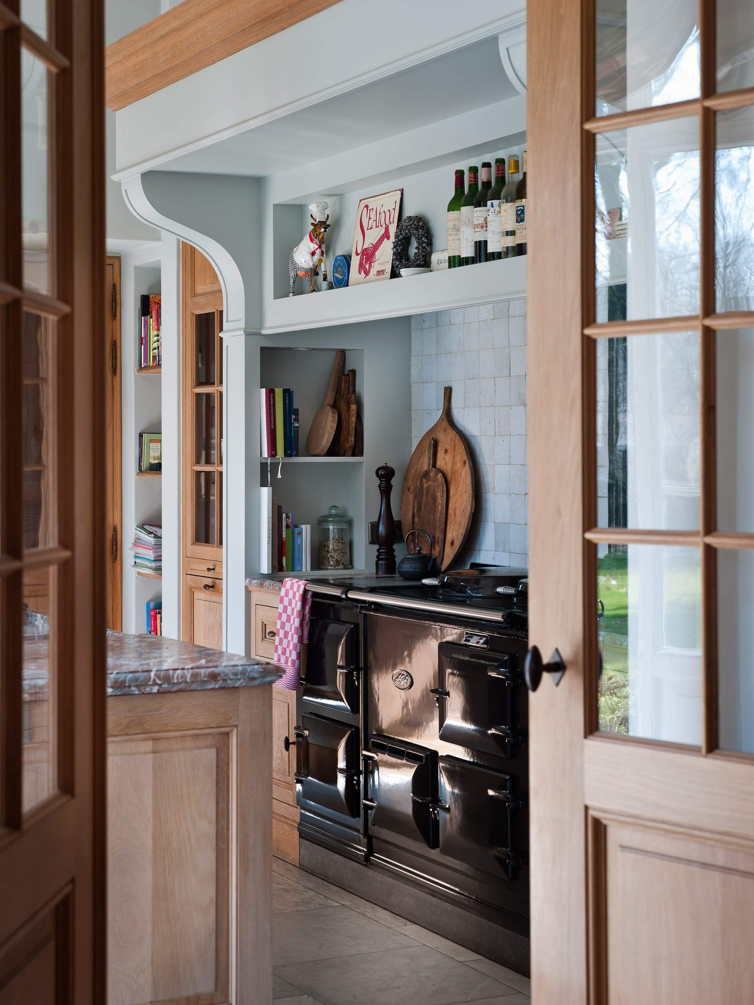 black aga kitchen stove