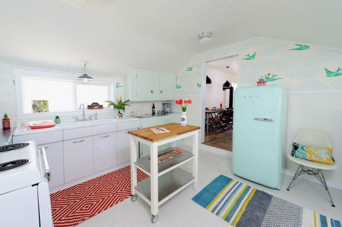 retro wallpaper kitchen
