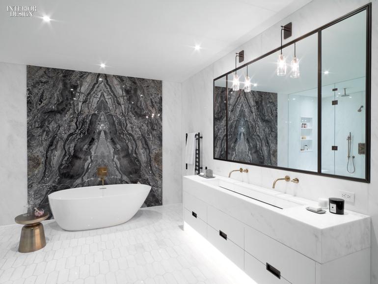 giant stone slab in restroom
