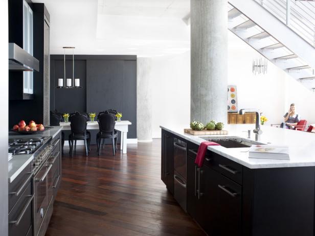 black-cabinets-kitchen-island
