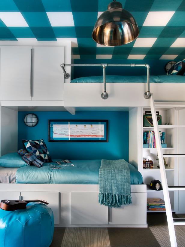blue-white-bunk-bed-design