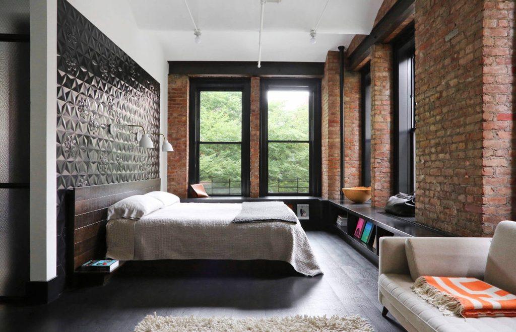 modern-bedroom-design-black-window-frames