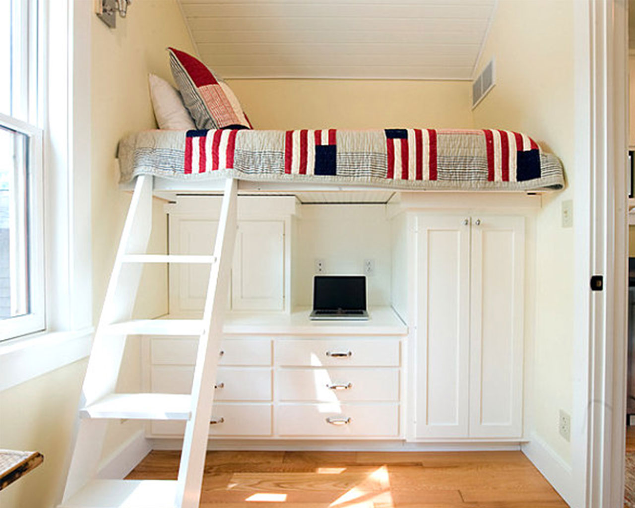 trendy-loft-bed-with-desk-underneath - My Ideal Home