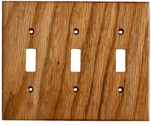 stained-wood-light-switch-plate