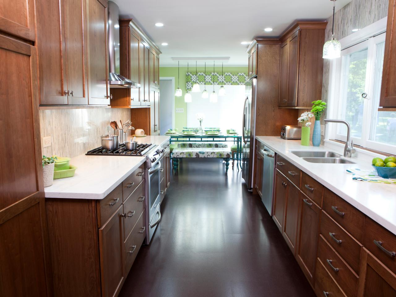 galley kitchen considerations for a kitchen layout - my ideal home