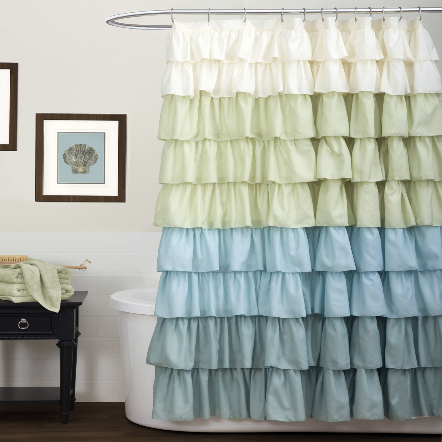 colorful-ruffled-cloth-shower-curtain