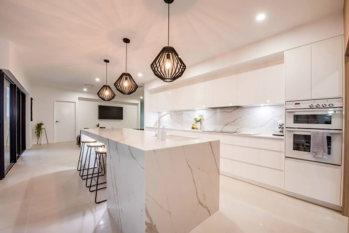 quartz-countertop-kitchen-island-white-kitchen-euro-style-cabinets