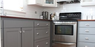 gray-base-kitchen-cabinets-white-walls